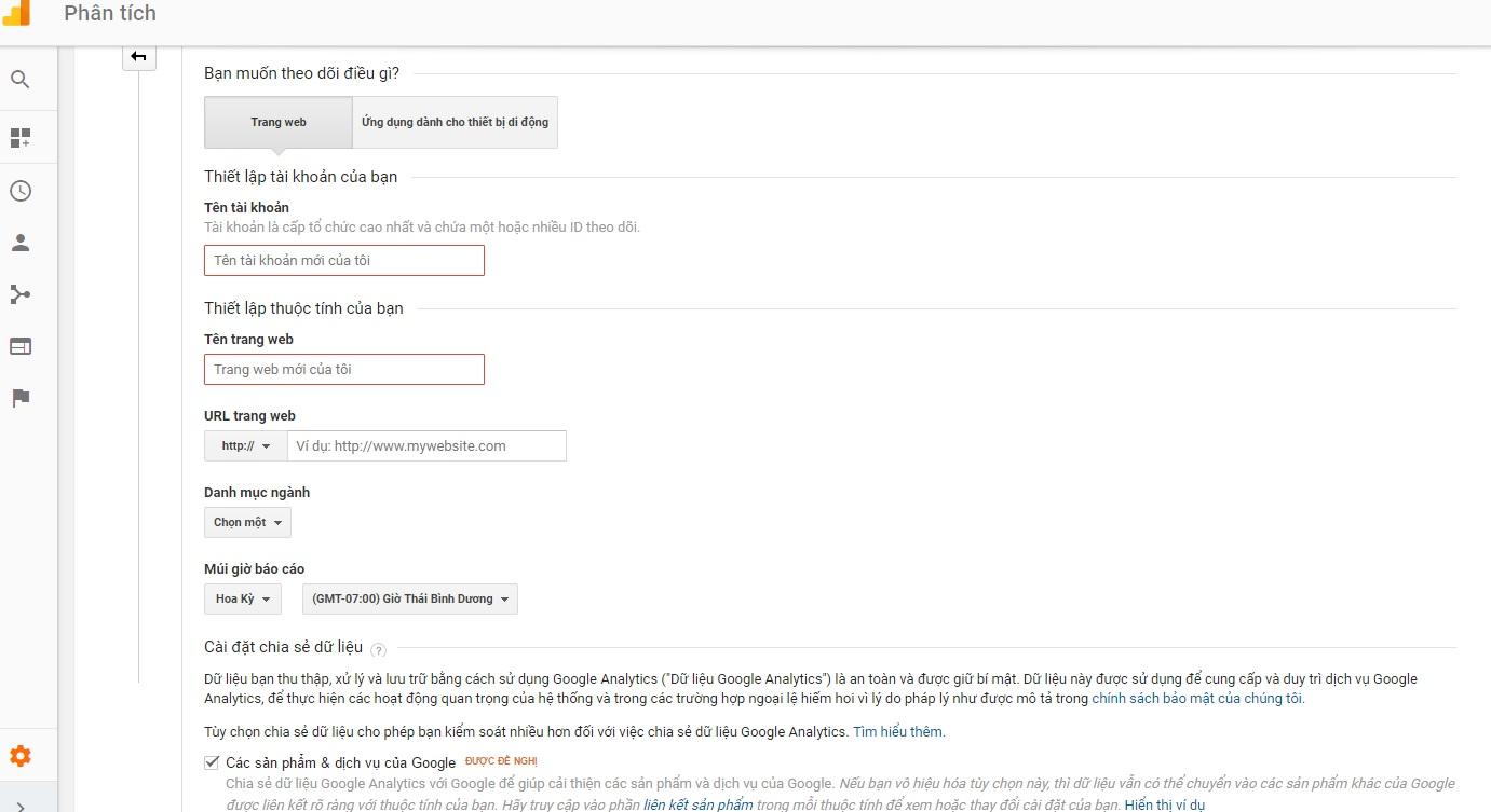 Hướng dẫn bước 3 để cài đặt Google Analytic vào website