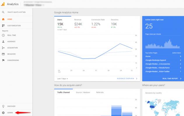 Sử dụng công cụ Google Analytics để kiểm tra lượng truy cập website